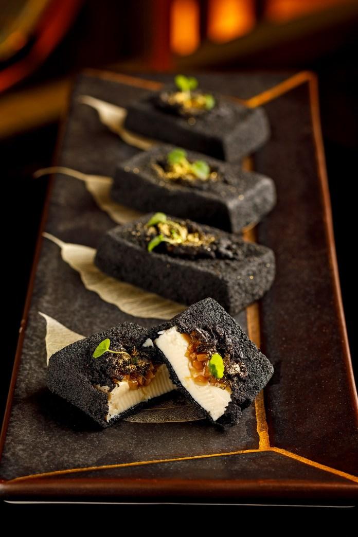 Crispy charcoal tofu with wild mushrooms-黑盒 - 野菌竹炭豆腐