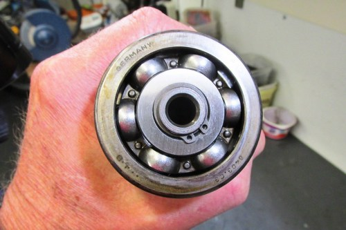 Output Shaft Rear Ball Bearing Secured By Lock Ring