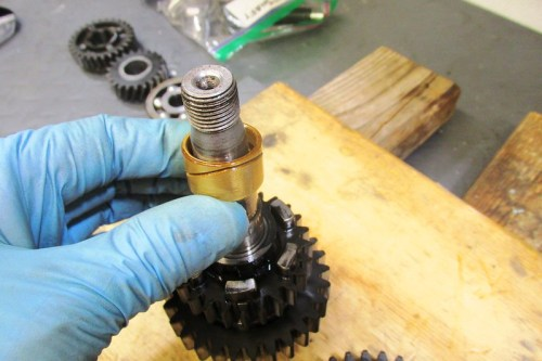 Remove Output Shaft 1st Gear Bushing