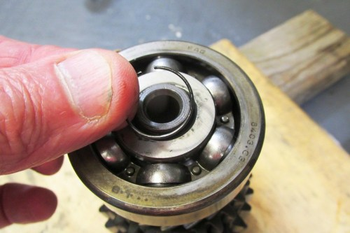 Remove Output Shaft Rear Ball Bearing Snap Ring That Is Under The Lock Ring