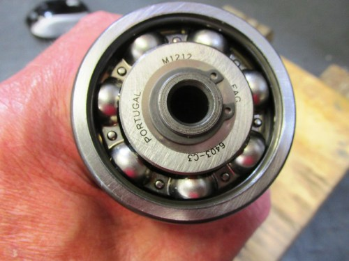 Output Shaft 5th Gear Bearing Secured To Shaft