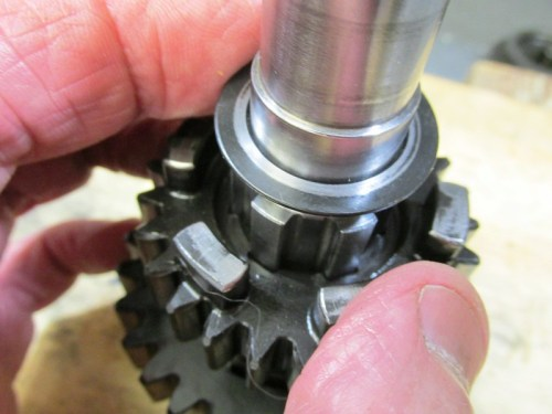 Output Shaft Washer Face With Chamfer-Note Larger Gap Next To Shaft