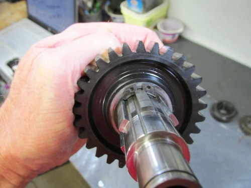 Output Shaft 2nd Gear Secured With Slotted Washer and New Lock Ring-Same On Other Side