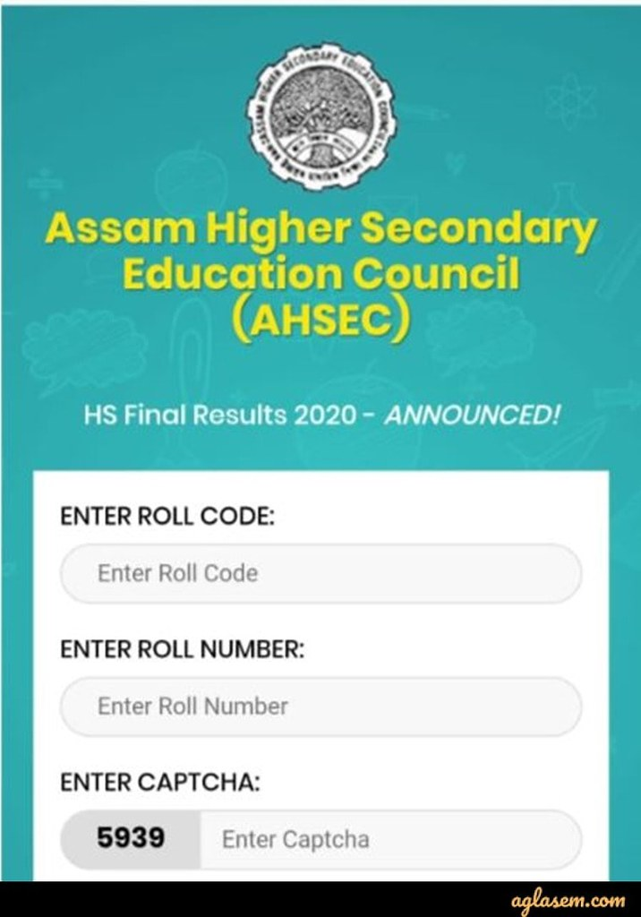 Assam Board Class 12 Result through Mobile App