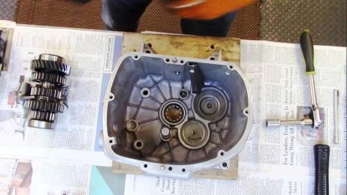 Install Input Shaft Roller Bearing, Intermediate Shaft & Output Shaft Oil Baffles Installed