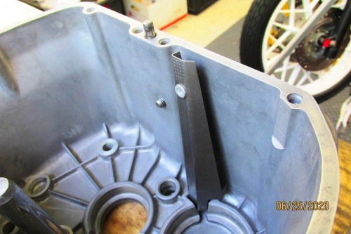 Intermediate Shaft Front Bearing Oil Channel Installed