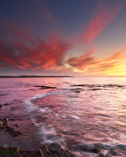 Pink Clouds over Covesea Lighthouse II