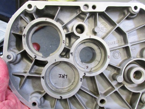 Transmission Rear Cover Marked For Measurements