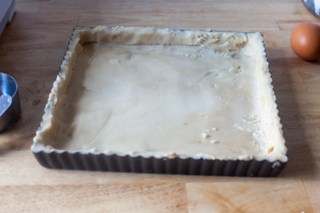 press the dough into a tart pan