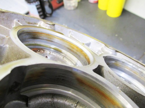 Discoloration In Rear Cover Intermediate Shaft Bearing Bore