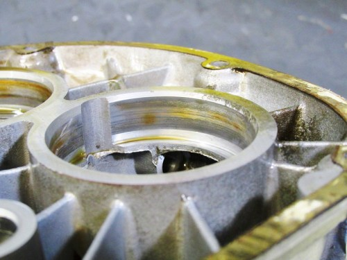 Discoloration In Cover Output Shaft Bearing Bore