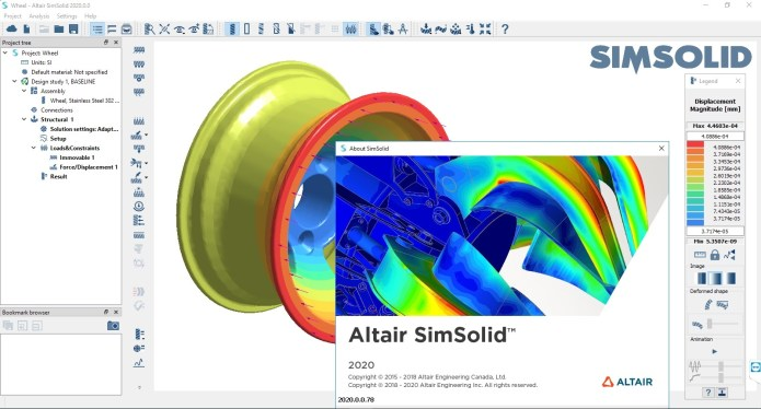 Working with Altair SimSolid 2020.0.0.78 full license