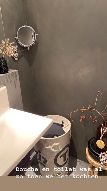 Betoncire badkamer landelijk