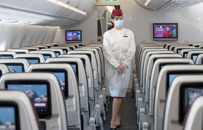卡塔爾航空 Qatar Airways 空中服務員防疫套裝