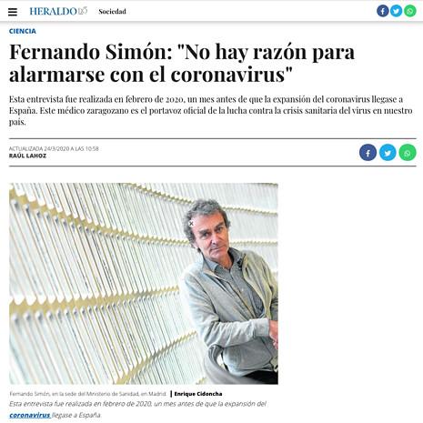 20c24 Fernando Simón No hay razón para alarmarse con el coronavirus Uti 465