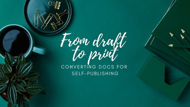 From draft to print epub banner cover