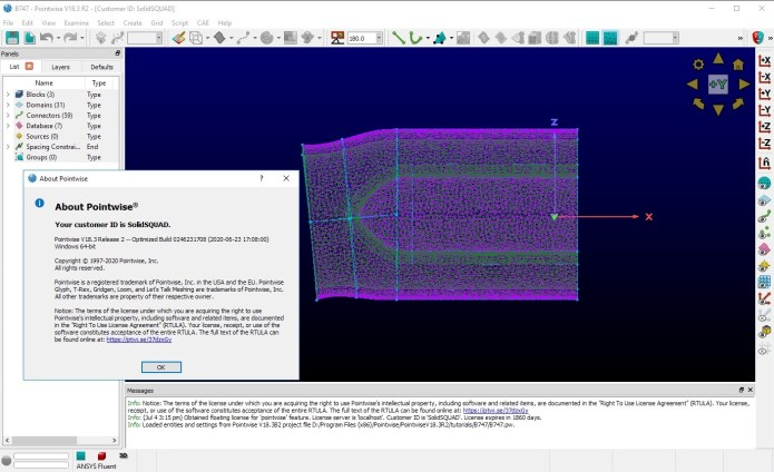 Working with PointWise 18.3 R2 build 2020-06-23 full license
