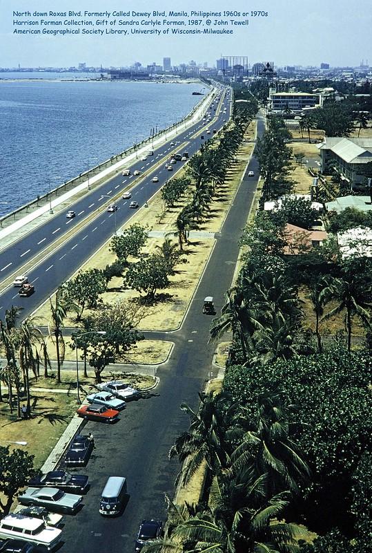 North up Roxas Blvd. Formerly Called Dewey Blvd, Manila, Philippines 1960s or 1970s