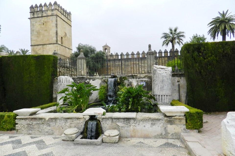 Patio morisco o mudejar Alcázar de los Reyes Cristianos Cordoba 01