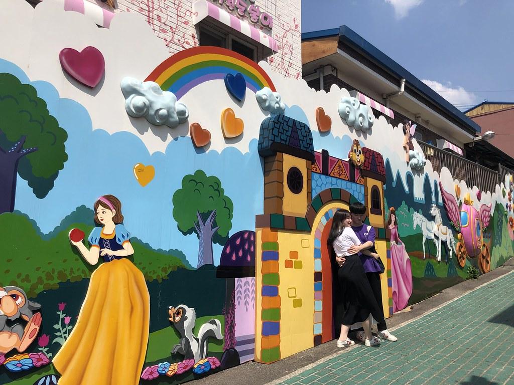 Street art at Songwol Dong Fairy Tale Village