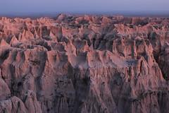 Pinnacles Sunset - Badlands National Park, South Dakota