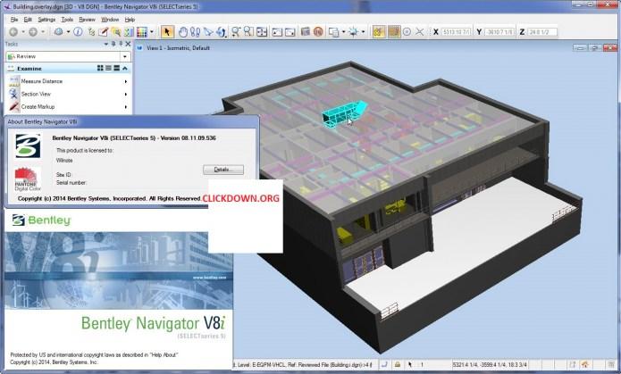 Working with Bentley Navigator V8i SS5 v08.11.09.536 full license
