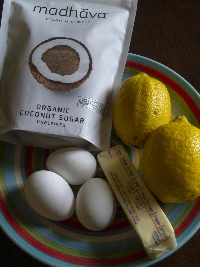 Ingredients for lemon pie