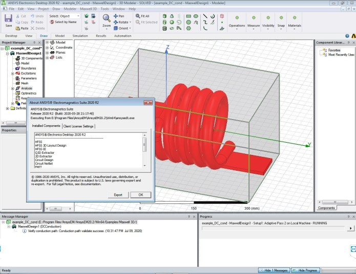 Working with ANSYS Electronics Suite 2020 R2 full