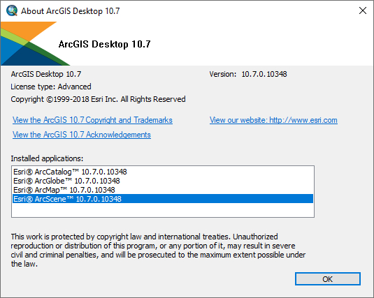 ESRI ArcGIS 10.7 167113 full license