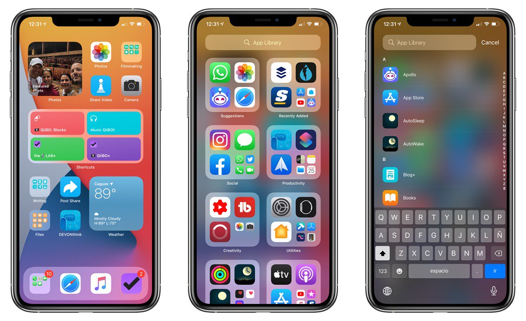 iOS 14 mi primer Home Screen layout con la beta 1