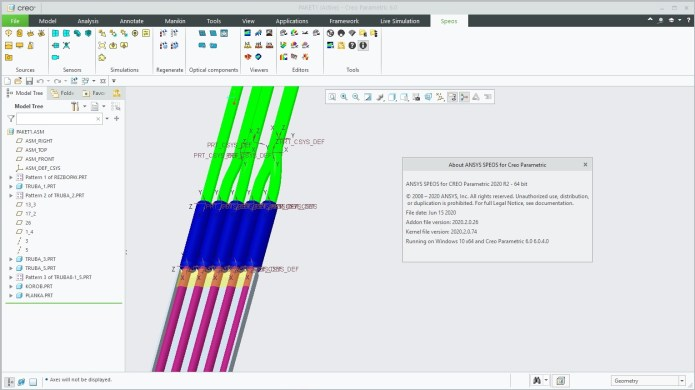 Working with ANSYS SPEOS 2020 R2 for CREO Parametric 3.0-6.0 full license