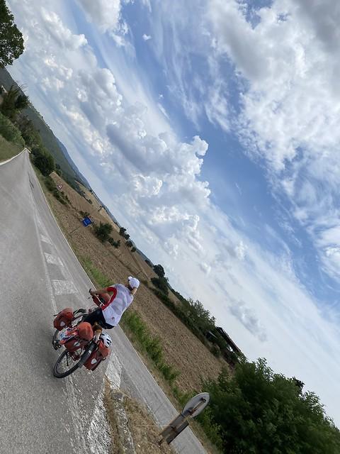 Toskana: hügelig und anstrengend für Fahrradfahrer