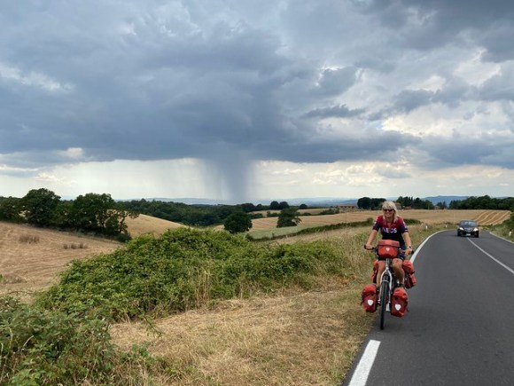 Ein Regenschauer hinter uns
