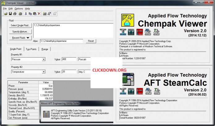Working with Applied Flow Technology ChemPak Viewer 2.0 full