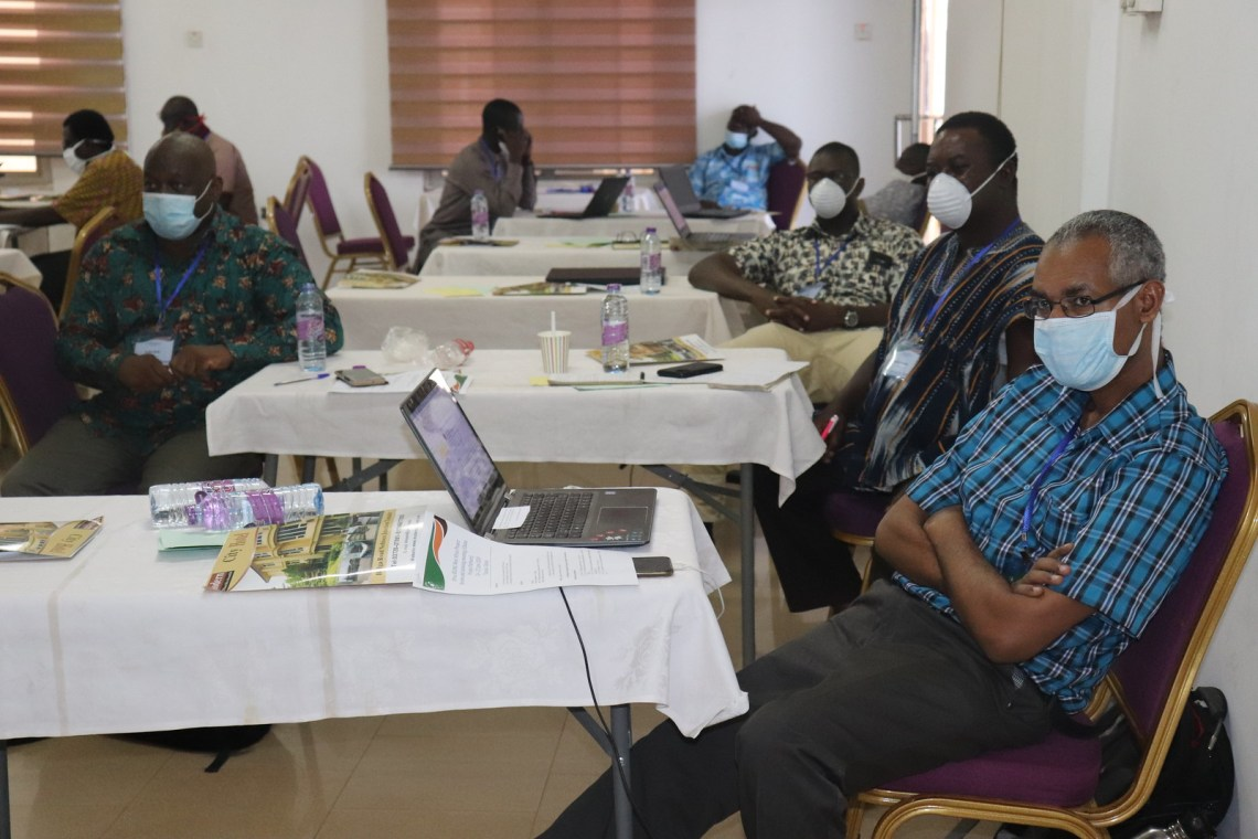 Africa RISING Ghana Partners Review and Planning Meeting held in Tamale and Virtual on 24 - 25 June 2020. Photo credit: Wilhelmina Ofori-Duah/IITA.