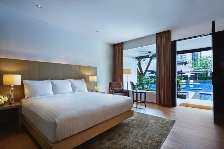 Singapore Marriott Tang Plaza Hotel Pool Terrace Rooms