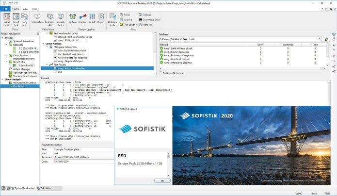 Working with SOFiSTiK 2020-5 Build 1128 full license
