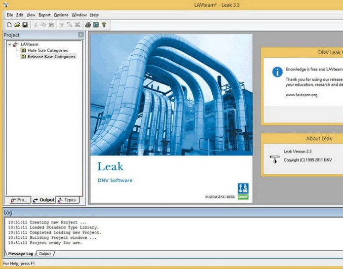 Working with DNV Leak 3.3 full license