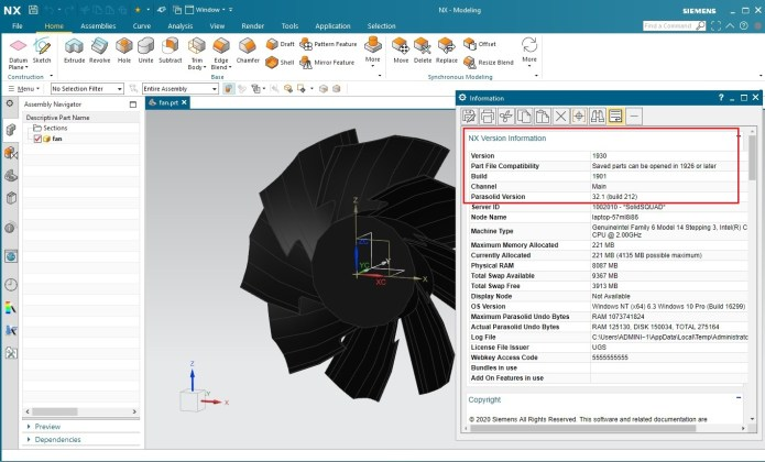 Working with Siemens NX 1930 Build 1901 full license