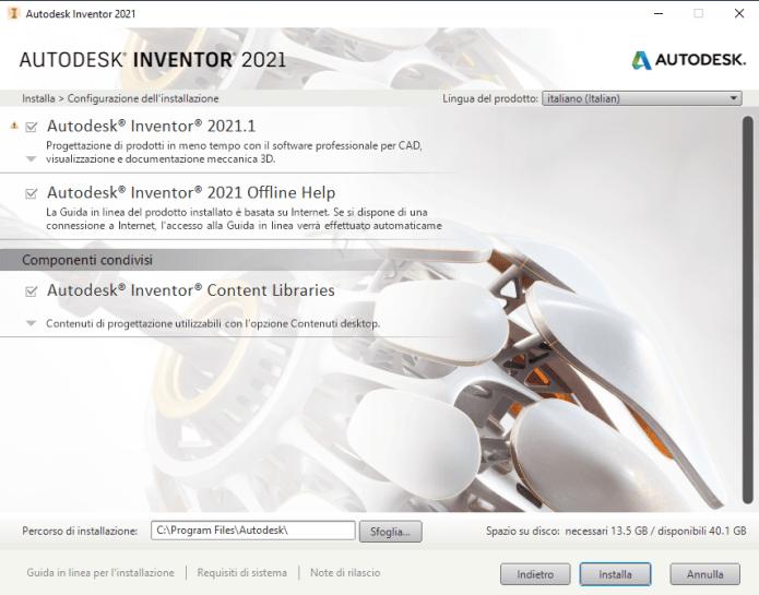 Install Autodesk Inventor Professional 2021.1 full
