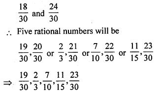 ML Aggarwal Class 9 Solutions for ICSE Maths Chapter 1 Rational Numbers Ex 1.1 Q7