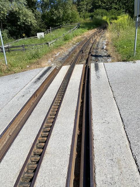 Schiene der Achenseebahn