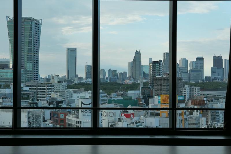 Shibuya daytime sky view