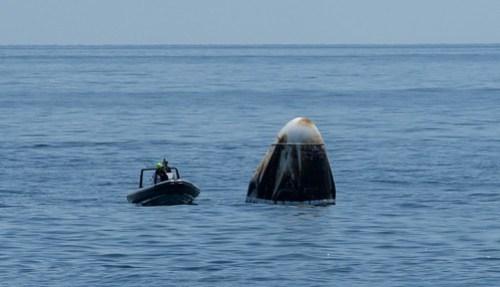 SpaceX Demo-2 Landing (NHQ202008020023)