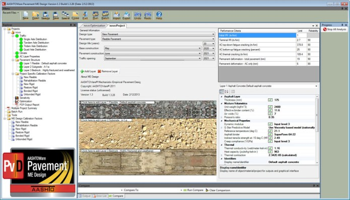 Working with AASHTOWare Pavement ME Design 2013 v1.3.28 full