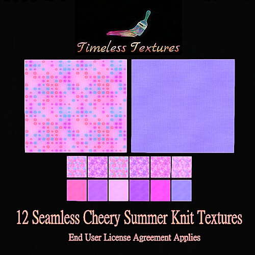 TT 12 Seamless Cheery Summer Knit Timeless Textures