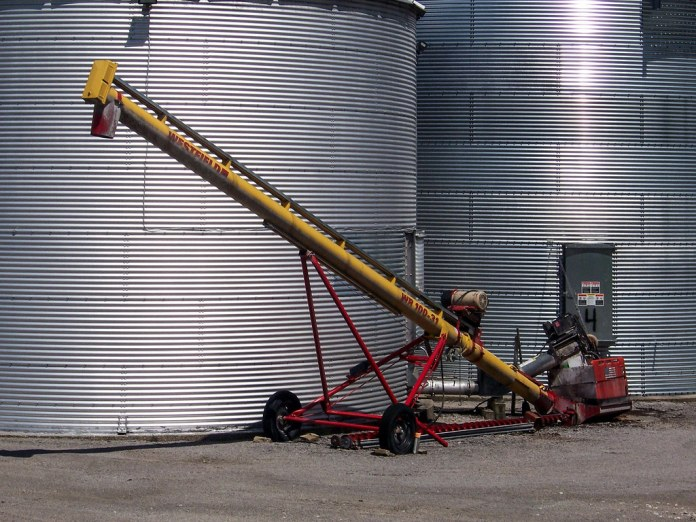 Equipment by the silo