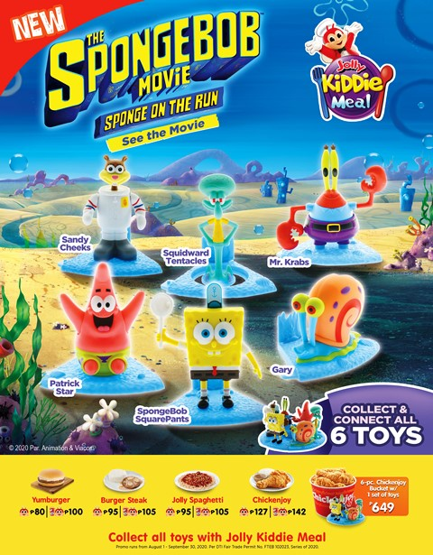 Jollibee - Spongebob Movie Toys