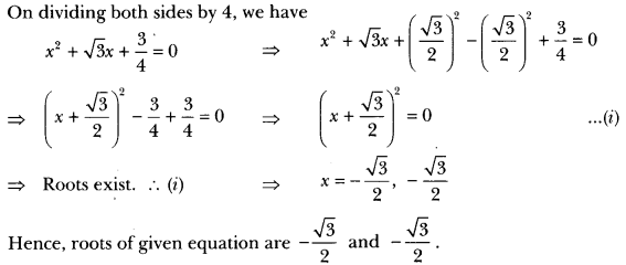 Quadratic Equations Class 10 Extra Questions Maths Chapter 4 with Solutions Answers 9