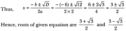 Quadratic Equations Class 10 Extra Questions Maths Chapter 4 with Solutions Answers 17